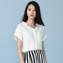 2015 short-sleeve chiffon shirt female summer batwing sleeve V-neck chiffon shirt cool short-sleeve shirt