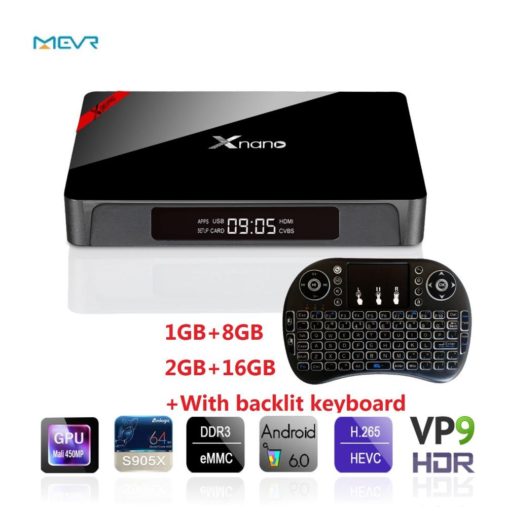 X96 Pro Smart Android TV Box Amlogic S905X Quad Core Set Top Box 1G+8G/2G+16G Android 6.0 OS Bluetooth 4.0 4 K mediaspeler DLAN