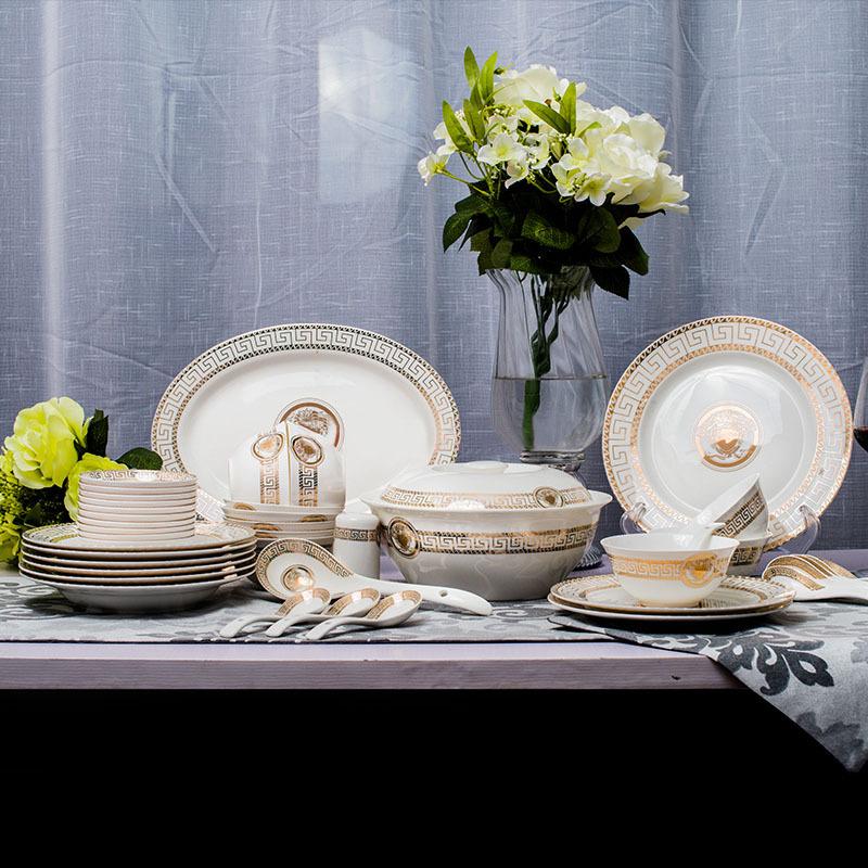 achetez en gros porcelaine ensemble de vaisselle en ligne. Black Bedroom Furniture Sets. Home Design Ideas
