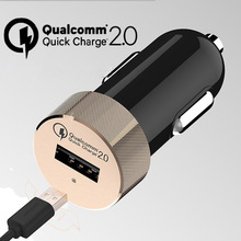 3 Colors USB Car Charger Quick Charge 2.0 Adapter for Samsung Galaxy S6 HTC M9 Xiaomi Mi3 Mi Note iPhone 6s