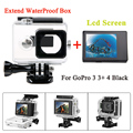 Gopro Hero 4 3 3 Bacpac Lcd Screen 45M Waterproof Housing Case Extended Backdoor For Accessories