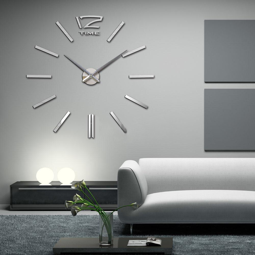 buy 2016 new arrival 3d home decor quartz diy wall clock clocks horloge watch. Black Bedroom Furniture Sets. Home Design Ideas