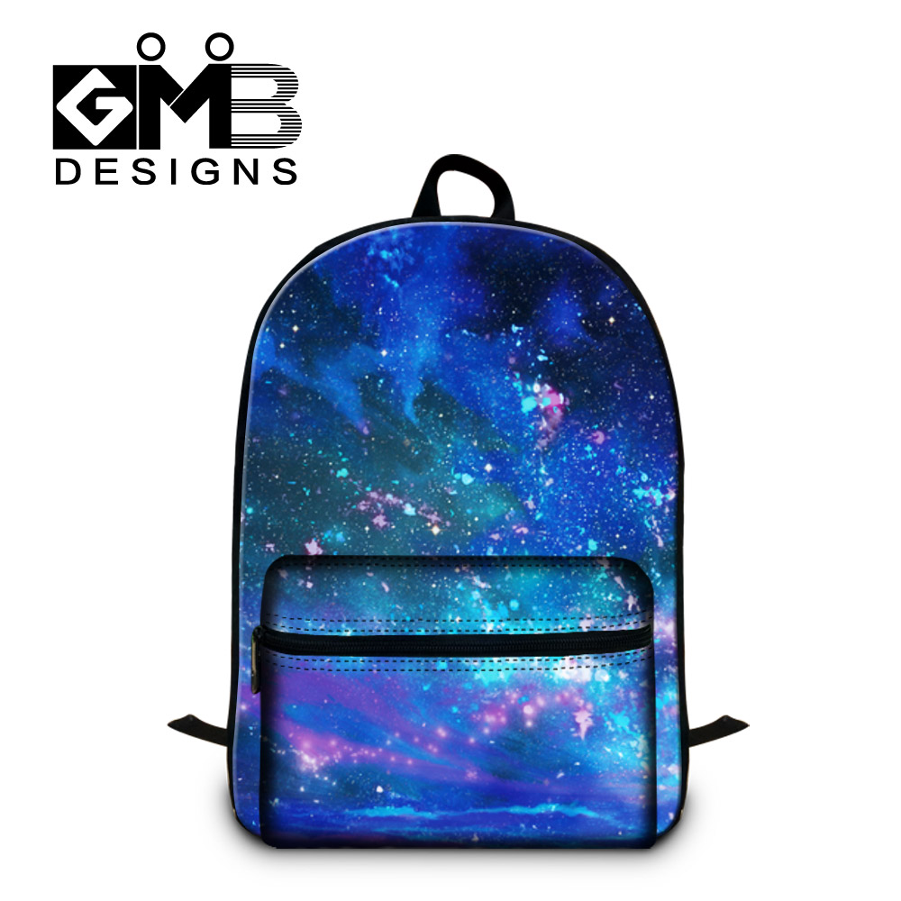 Girls Casual Shoulder Backpack Children Best School Bags Galaxy Printing Back Pack Magazine College Students Computer bags