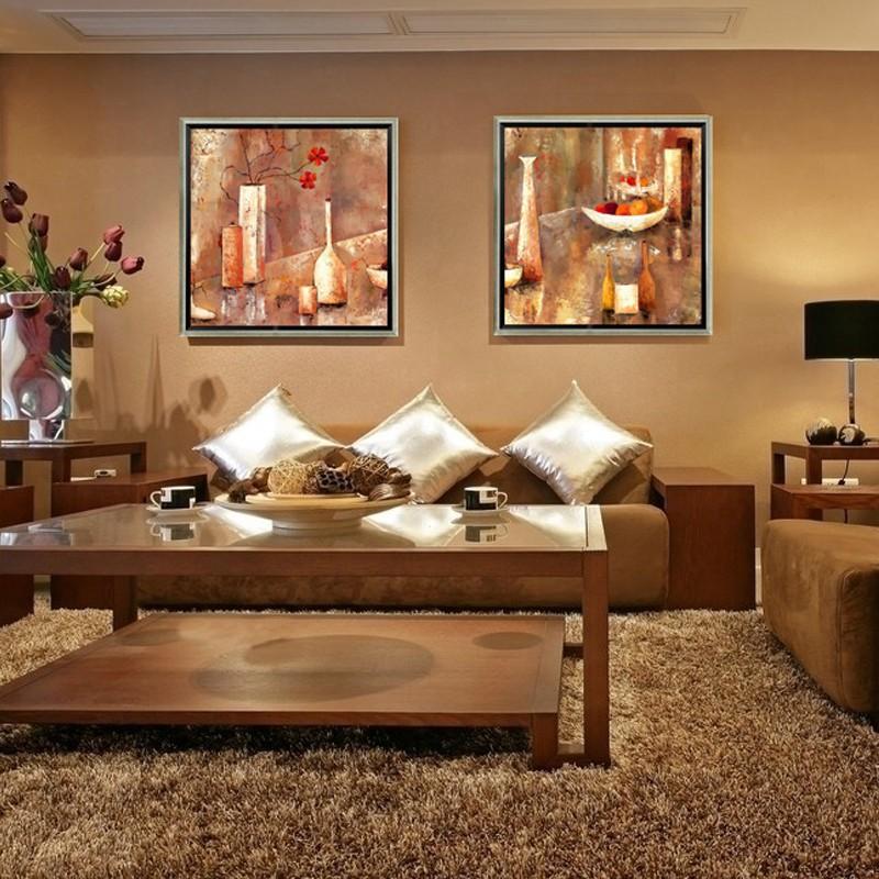 F cil para a arte moderna decora o pintura quadro pintura for Sala de estar pintura