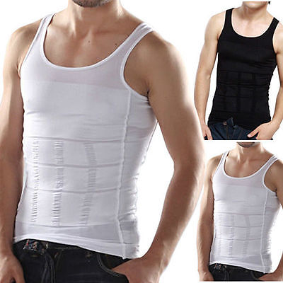 Plus Size Men Firm Tummy Belly Buster Vest Control Fitness Slimming Body Shaper Underwears Shapers