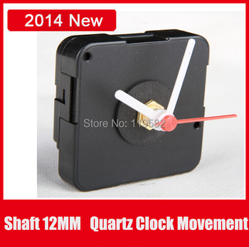 Cheap Table Clocks Silent Movement Sweep Quartz Clock Movements Kit Spindle Mechanism shaft 12MM With Plastic Hands