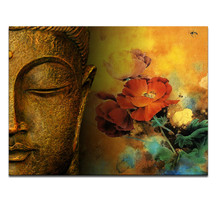 FREE SHIPPING Framed Classical Buddha Canvas Art Merciful Buddha, Act with Compassion Home Decor Art(China (Mainland))