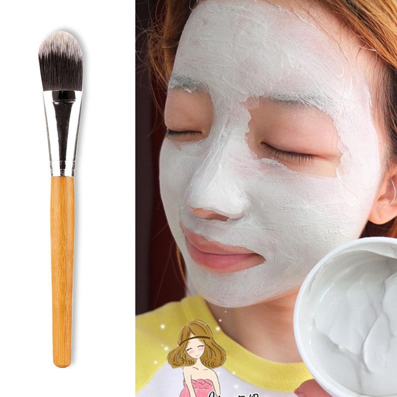 2015 Brand New Makeup BrushesSexy Woman Bamboo Handle Facial Mask Brush Makeup Brush Make Up Face