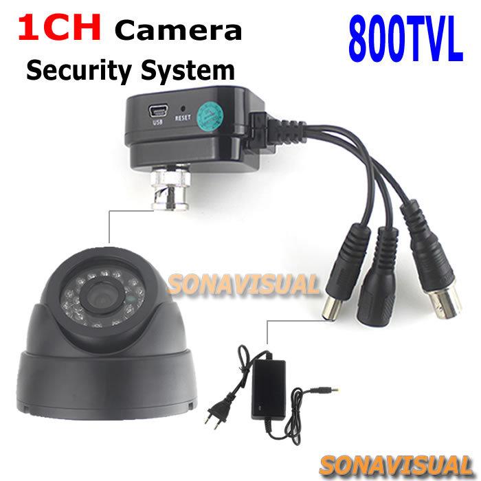 CCTV Camera System 800TVL Dome CCTV Camera Indoor + Digital Video Recorder H.264 TF Card Recorder + Power Adapter Mini DVR Kit<br><br>Aliexpress
