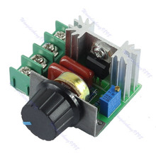 Free Shipping 2000W SCR Voltage Regulator Dimming Dimmers Speed Controller Thermostat AC 220V