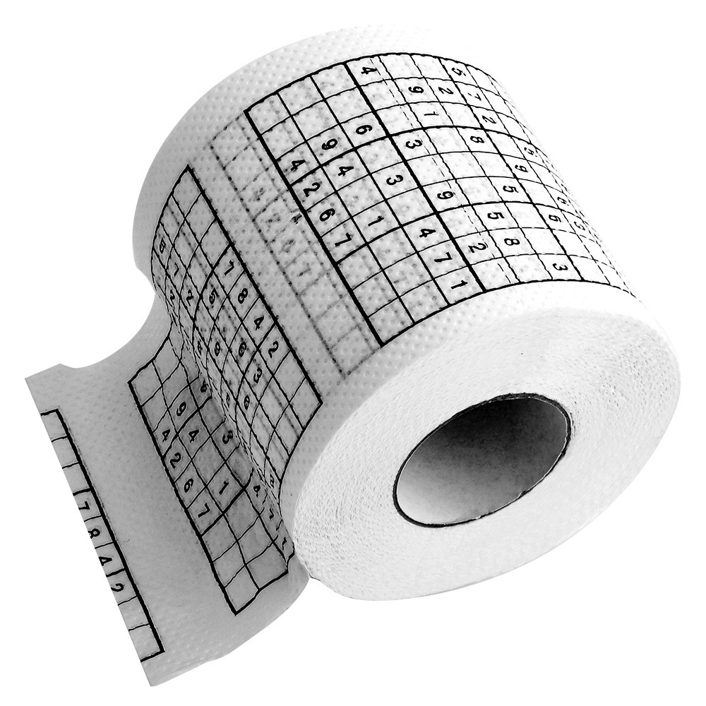 Sudoku Puzzle Game Toilet Paper Toilet Tissues Roll H741001(China (Mainland))