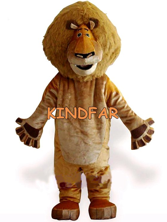 Lion Plush Adult Mascot Costume Madagascar Cat Halloween Cartoon Party Outfits Fancy Dress Ideas - Kindfar Factory store