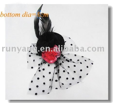 mini top hats,fashion feather party hat,fascinator for the cocktail party,hair clips