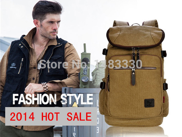 2015 Fashionable Mens Durable Canvas Outdoor Sports Rucksack Laptop Computer Backpacks School Duble Shoulder Bags For Big Man<br><br>Aliexpress