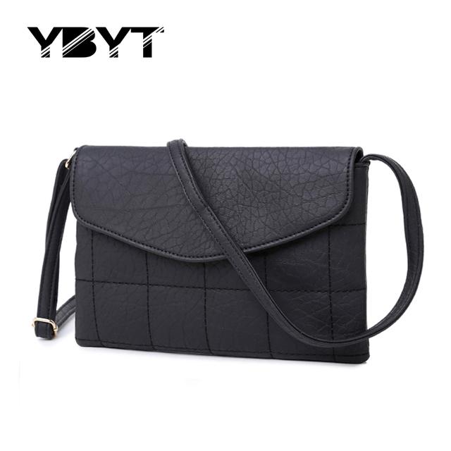 YBYT brand 2017 new casual envelope diamond lattice handbags hotsale women purse ladies clutch shoulder messenger crossbody bags