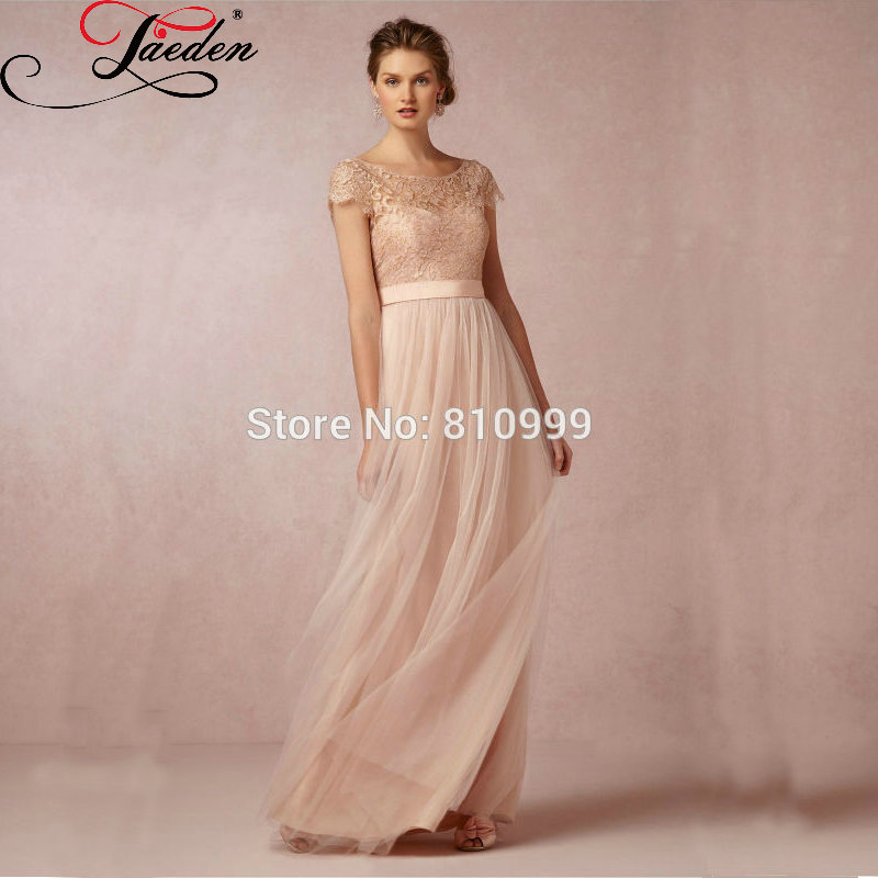 JAEDEN A-Line Wedding Dresses Sexy Cap Sleeves Backless Lace Floor-Length Scoop Bridal Gown 2016 - store