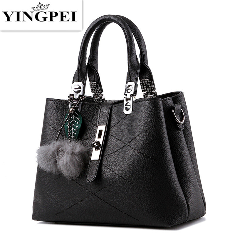 YINGPEI crossbody women messenger bags handbags famous brands leather luxury designer BlackBlue school ladies hand bags
