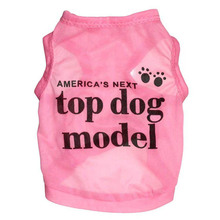 Newest Summer Dress TOP DOG MODEL Vest Puppy Dog T-shirt Coat Paw Letters Print Clothes For Dogs Cheap Thin Cool Pet Products