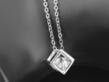 top selling Free Shipping Hot sales high quality import Crystal float zircon cubic Pendant Necklace chain