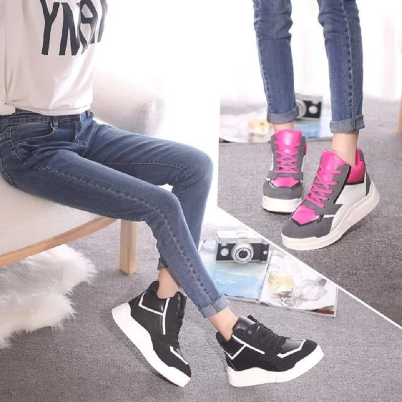 Hot Selling Fashion Breathable Platform Elevator Shoes Women Swing Wedge Casual Shoe Woman Black Size 35-39 #9882<br><br>Aliexpress