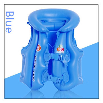 2015 Inflatable Children Lifejacket High Quality PVC Green Plastic Child Swimsuit Kids Life Swim Vest for Boy/Girl 80-110CM(China (Mainland))
