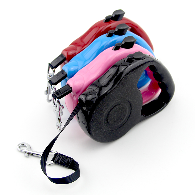 Nylon Retractable Training Lead Pet Dog Leash Puppy Dog Strap Rope Traction Dog Harness Chihuahua Pet Collar(China (Mainland))