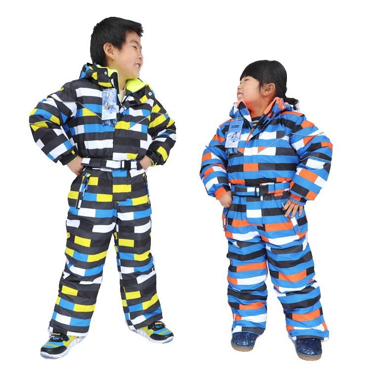New winter teenage ski jackets children ski snowboard jacket boys one piece ski suit for boy thermal windproof(China (Mainland))
