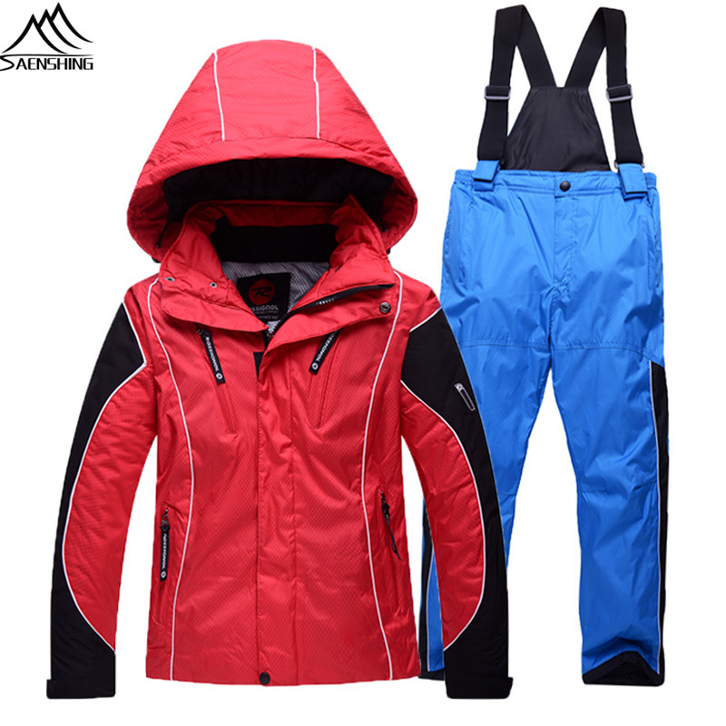 2016 Children's Winter Clothing Waterproof Thicken Thermal Ski Jacket+Snowboard Pant Kids Suit Hooded Outdoor Sport Boy Snow Set(China (Mainland))