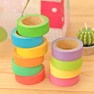 5 pcs/lot DIY Cute Candy Color Japanese Washi Tapes Paper Masking Stickers for Decoration Scrapbooking Korea Free shipping 716(China (Mainland))