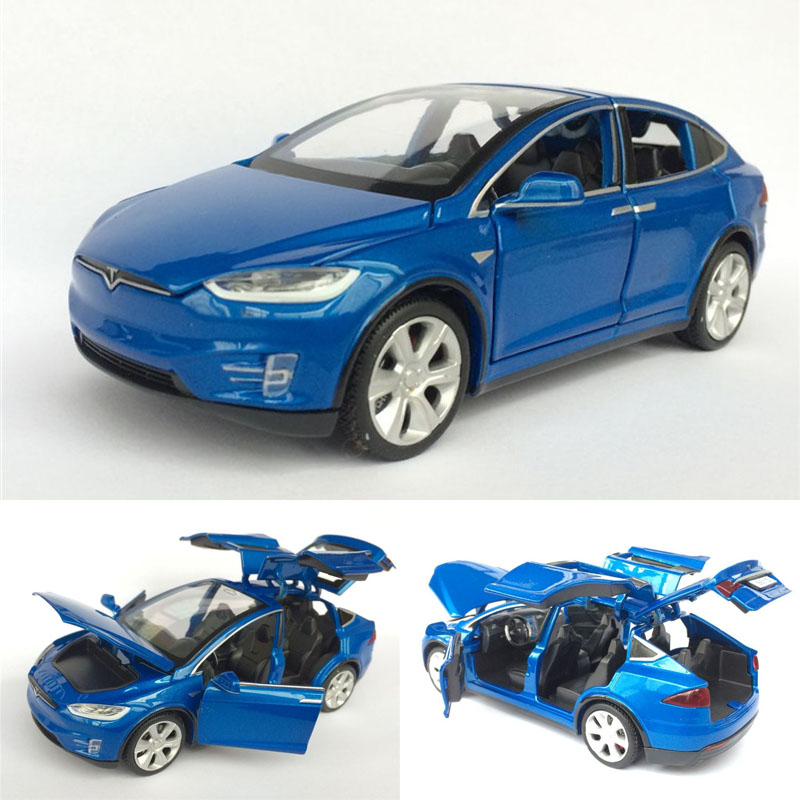 New High Simulation 1:32 Tesla MODEL X90 Sports Car Die-cast metal Alloy Car Model For Children's Toys Gifts Free Shipping(China (Mainland))