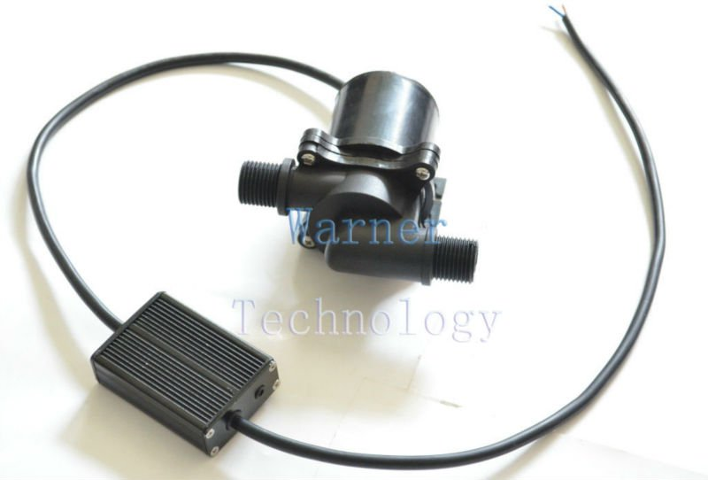 5pcs/ Lot 12Vdc 3phase Brushless DC Car circulating pump High temperature 100C Max head 4m Flow 2150LP Low noise Absolute safety(China (Mainland))