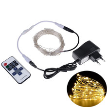 Buy LED String Lights 5M10M Outdoor Christmas Fairy Lights Warm White Silver Wire LED Starry Lights DC 12V Wedding Decoration for $2.74 in AliExpress store