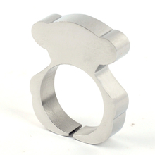 2015 trend famous brand Silver Color Bear Accessories ring Hot Sale Fashion Stainless Steel Jewelry
