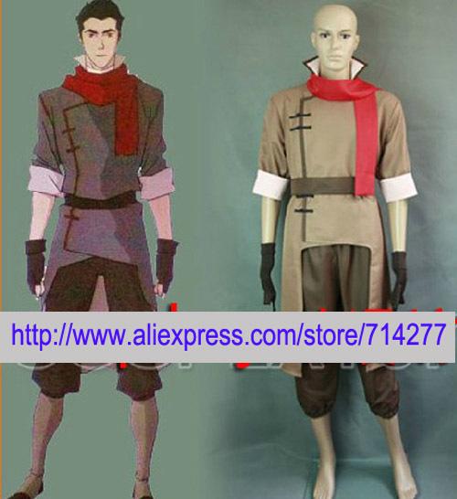 Free shipping Custom Cheap Mako Cosplay Costume from Avatar the Last Airbender(China (Mainland))