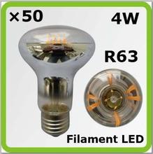 2016 new DHL shipping 4W led spotlight filamento led R63 E27 440lm 80Ra CE ERP approval.