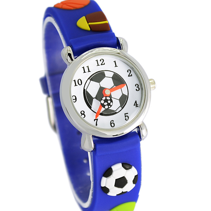 Waterproof Kid Watches Children Silicone Wristwatches football Brand Quartz Wrist Watch Baby For Girls Boys Fashion Casual Reloj(China (Mainland))