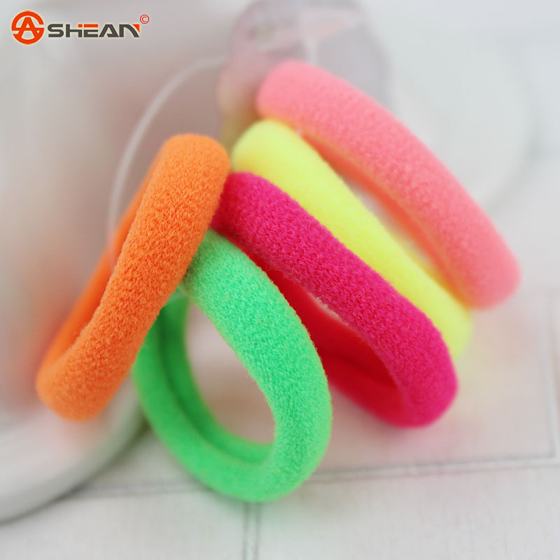 5 pcs / Lot Scrunchy Child Kids Hair Holders Rubber Bands Hair Elastics Accessories Girl Women Seamless High Elastic Hair Ring(China (Mainland))