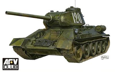 AFV Club 35145 1/35 T-34-85 Model 1944/1945 Production Factory No.174 w/interior<br><br>Aliexpress