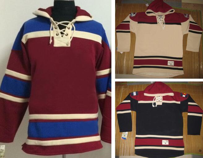 men's hoody hoodies sweaters Gabriel Landeskog joe sakic nathan mackinnon duchene matt avalanche patrick roy red beige dark blue(China (Mainland))