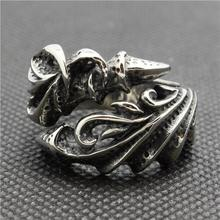 316L Stainless Steel Cool Punk Gothic Dragon Claw New Silver Ring