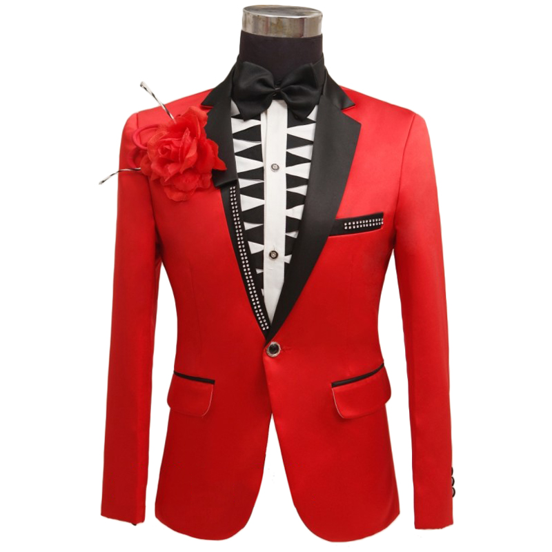 the gallery for gt black and red prom suits