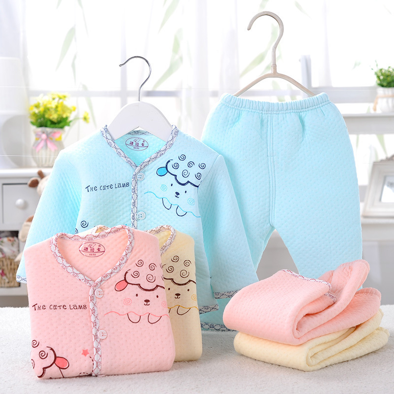 2015 new autumn winter baby clothing baby's set 100% cotton baby&kids boy girl warm clothes baby underwear for newborn(China (Mainland))