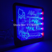 Creative home gift LED luminous Bulletin Board,message writing board With Fluorescent Marker Pen(China (Mainland))