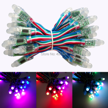 LED Pixel Module For DIY Advertising Board IP68 Waterproof DC5V 50pcs a String Christmas Tree Light Addressable WS2801 Pixel(China (Mainland))