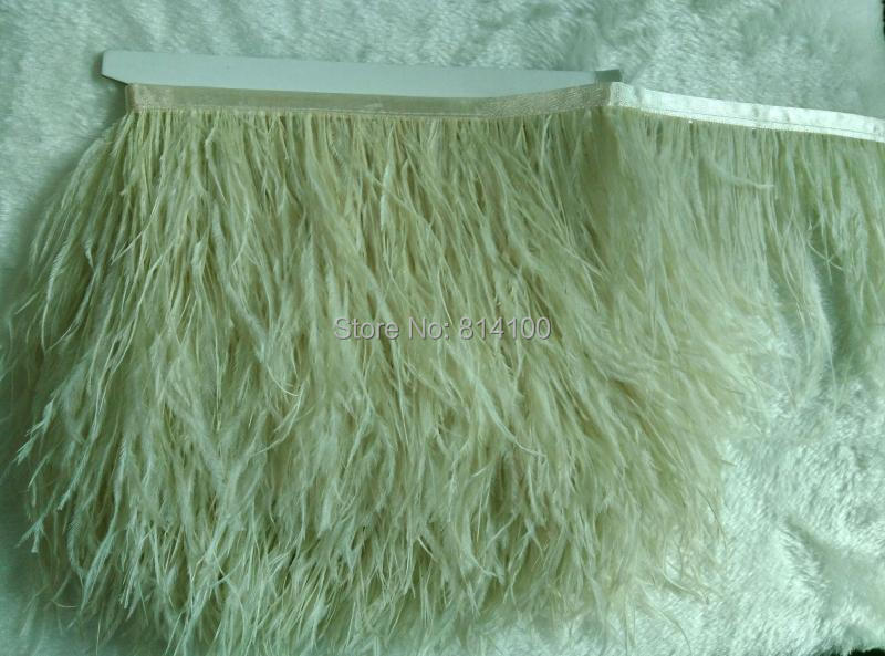 2yards/lot 46# colors Ostrich Feather Plumes Fringe trim 10-15cm Feather Boa Stripe for Party Clothing Accessories Craft(China (Mainland))