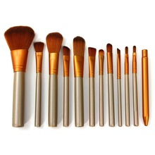 Professional 12Pcs Facial Makeup Brushes Kit Fiber Face Eyes Blush Brush Set Women Beauty DIY Tools