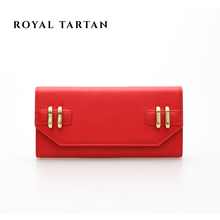 ROYAL TARTAN female carteira 2016 brand clutch bag fashion long wallet luxury women genuine leather wallets designer purses bags