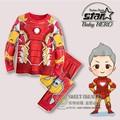 2016 The Avengers Spring Autumn Baby Girl Boys Clothing Set Kids Cotton Boys hoodies pants sport