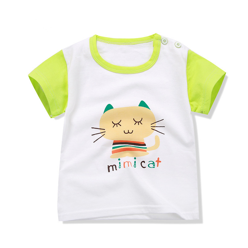 High quality Plain children t shirts boys girls clothes kids t shirt summer cartoon short sleeve cotton polo shirt clothing