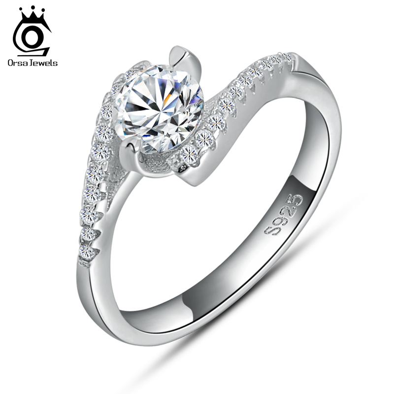 Aliexpress Buy Fashion Engagement Womens Ring on 3 Layer Platinum Plate